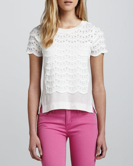 Lace Tiered Top