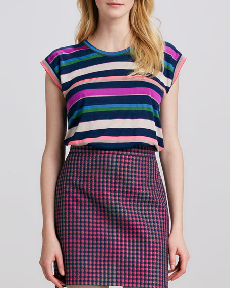 Striped Relaxed Jersey Top