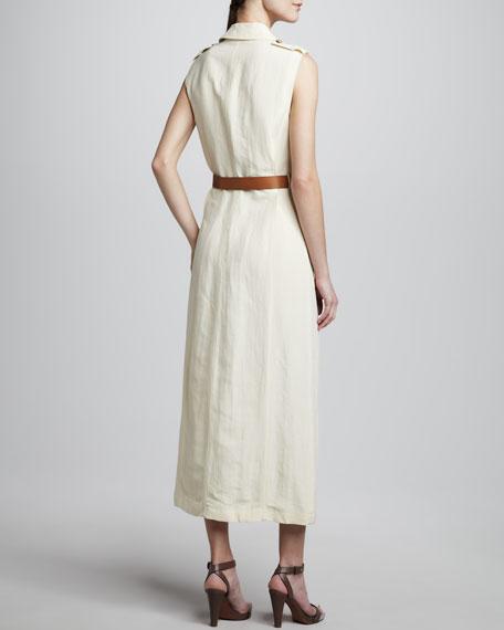 Safari-Style Dress, Ivory