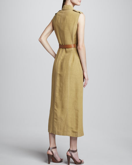 Safari-Style Dress, Sage