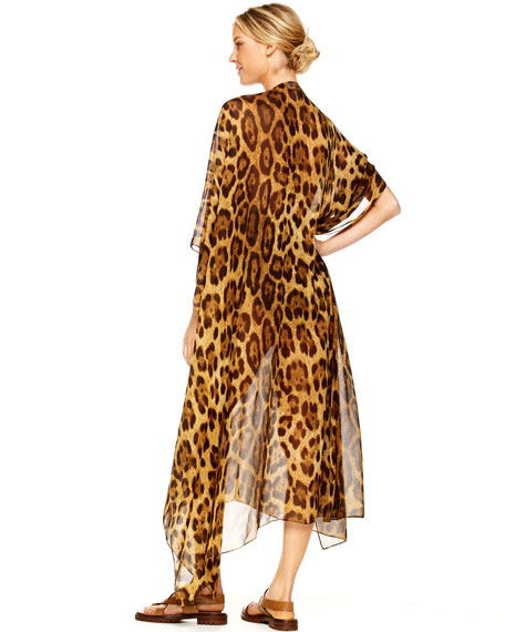 Leopard Chiffon Caftan