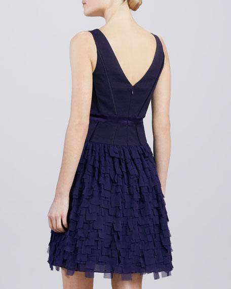 Tiered V-Neck Cocktail Dress