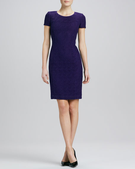 Laser-Cut Sheath Dress