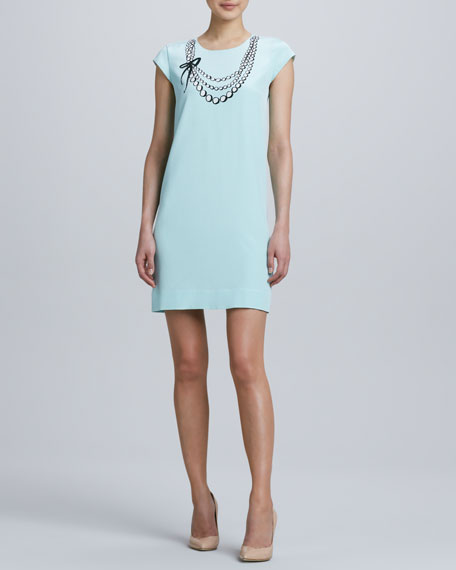 karine necklace-print dress