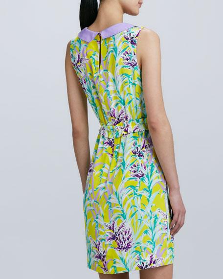 neal sleeveless printed dress