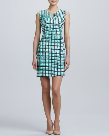samantha sleeveless check dress