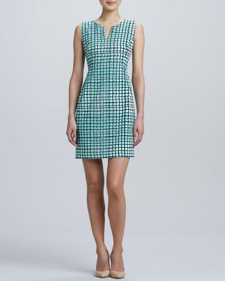 samantha sleeveless check dress