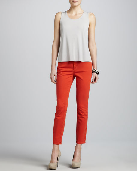 Skinny Garment-Dyed Ankle Jeans, Petite