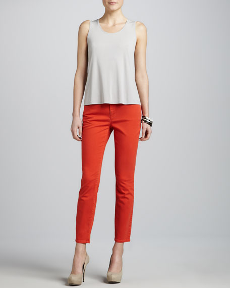 Skinny Garment-Dyed Ankle Jeans, Women's