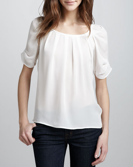 bb5141fa61618 Joie Eleanor Silk Blouse on PopScreen