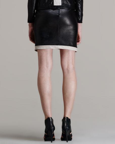 Evolution Leather Skirt
