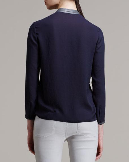 Soft Shroud Button-Down Blouse