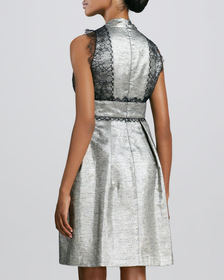 Lace-Trimmed Cocktail Dress