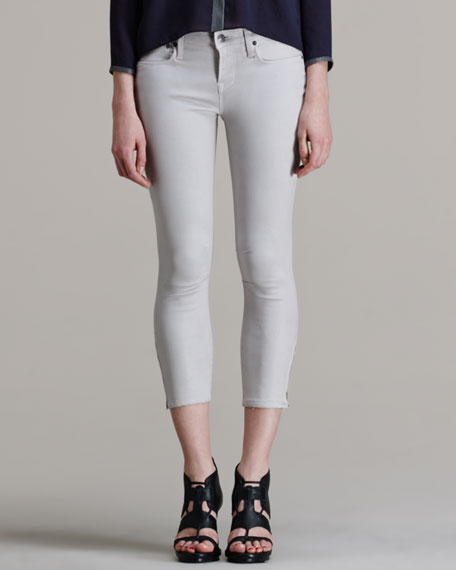 Halo High-Gloss Cropped Skinny Pants