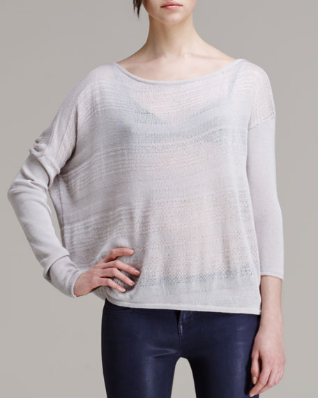 Slouchy Striped Knit Pullover