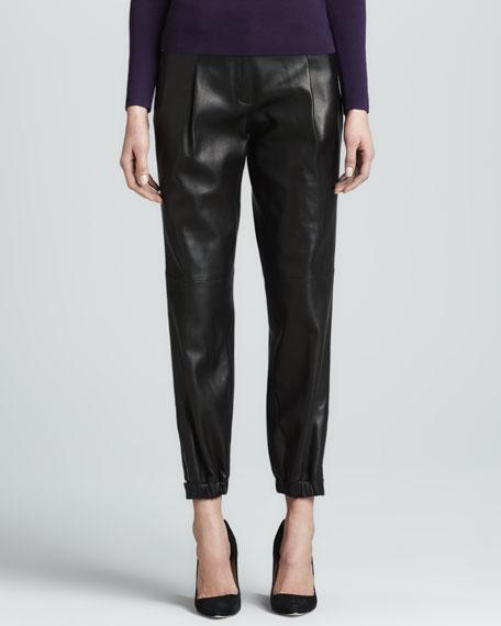 Plonge Leather Athletic Pants