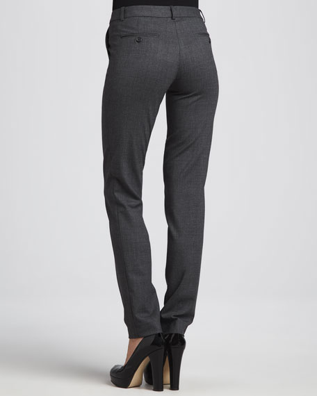 Samantha Skinny Tropical Wool Pants