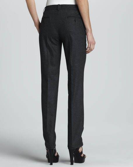 Samantha Skinny Pants, Charcoal Flannel