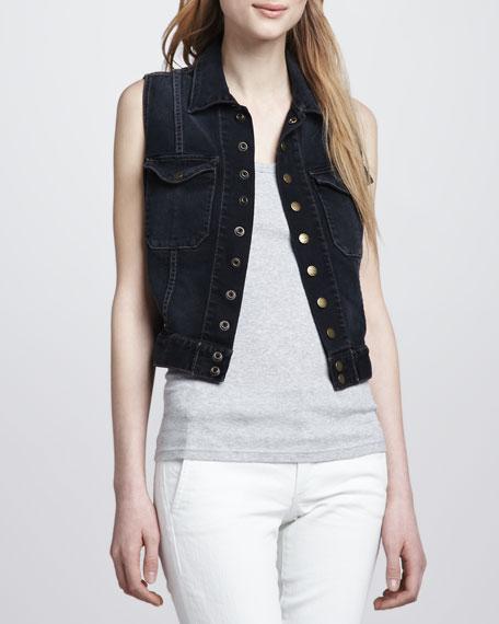 The Sleeveless Snap Jacket
