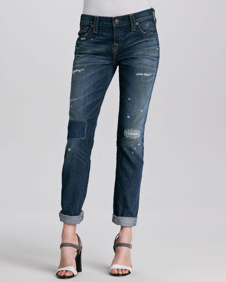 Cameron Vintage-Wash Boyfriend Jeans