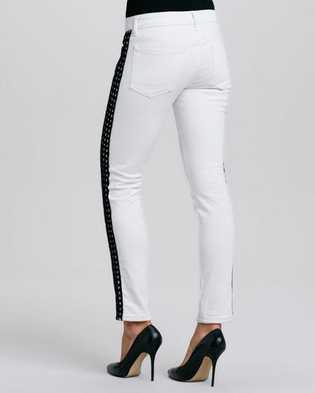 Side-Stripe Ankle Jeans