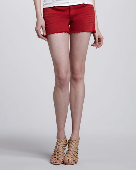 Easy Cutoff Jean Shorts, Salsa