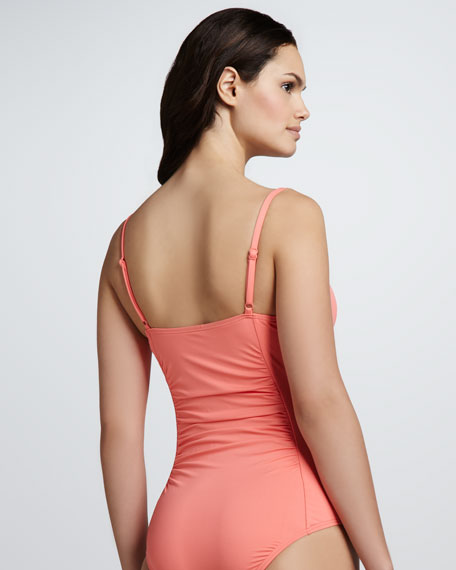 Signature Twist-Front One-Piece Swimsuit