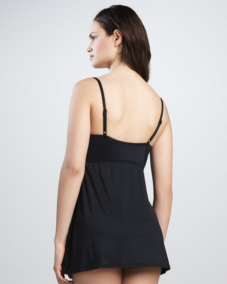 Signature Twist-Front Swimdress
