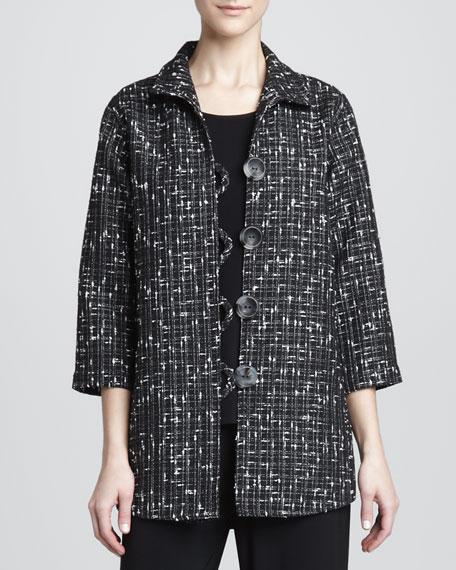 Transitional Tweed Easy Shirt
