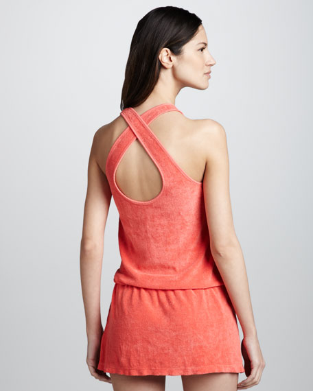 Terry Blouson Coverup Dress