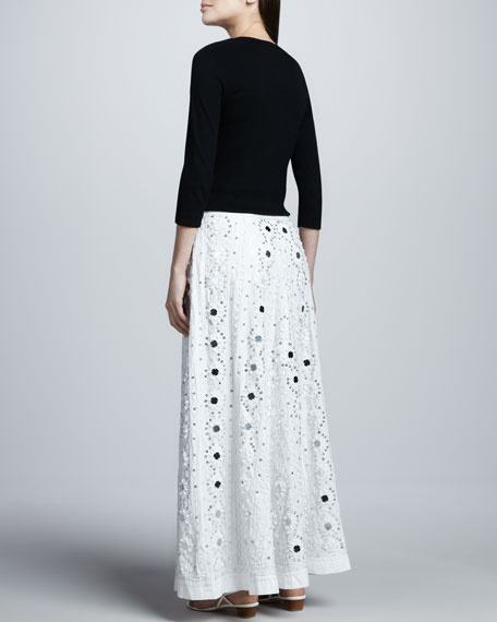 Mirrored Embellished A-line Skirt