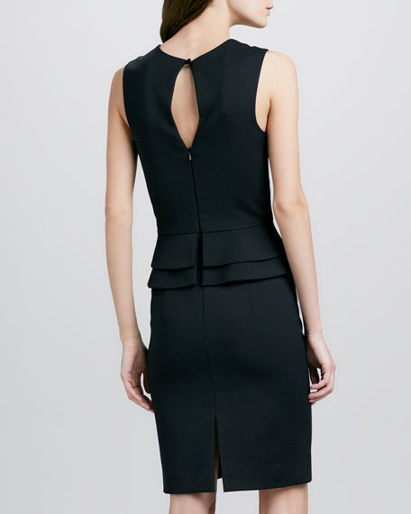 Valentina Peplum Dress, Black