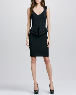 Black Halo Valentina Peplum Dress, Black