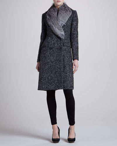 Michael Kors Boucle Double-Breasted Coat