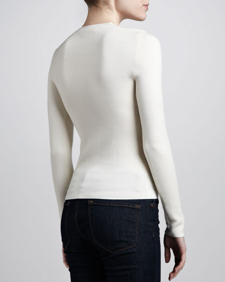 Long-Sleeve Cashmere Sweater