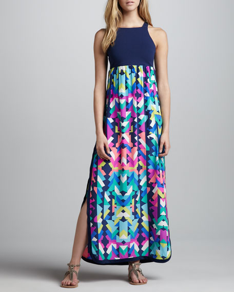 Alice & Trixie Leslie Printed-Skirt Maxi Dress