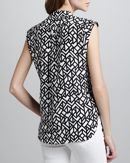 Scout Printed Sleeveless Blouse
