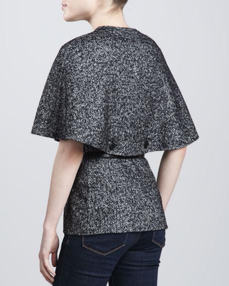 Herringbone Shawl Jacket