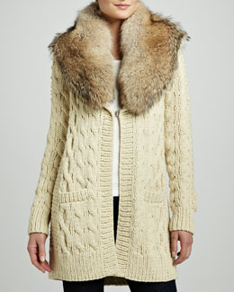 Michael Kors Cable-Knit Cardigan