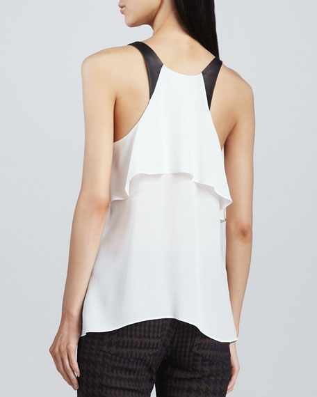 Tiered Silk Blouse