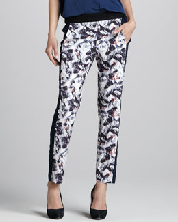 Cut25 Colorblock Printed Pants