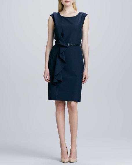 Sleeveless Asymmetric Ruffle Dress