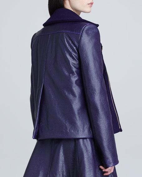 Gravity Mix-Fabric Pea Coat