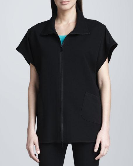 Oversized Zigzag-Stitch Jacket
