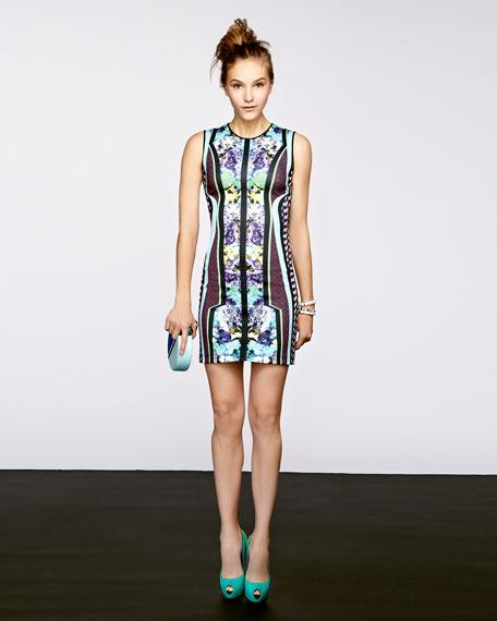 Mix-Print Neoprene Dress