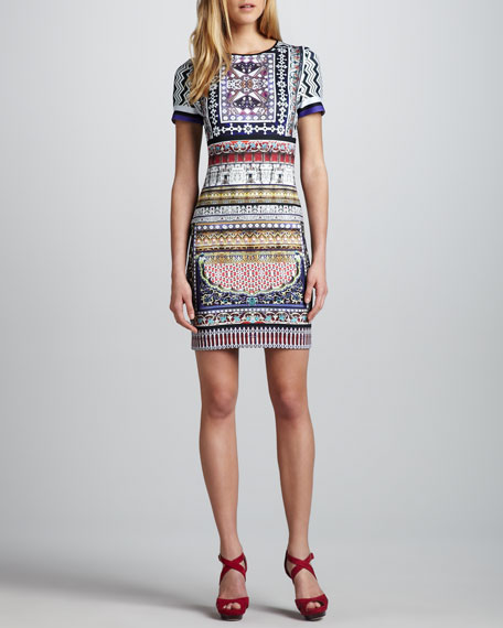 City Palace Printed Neoprene Dress