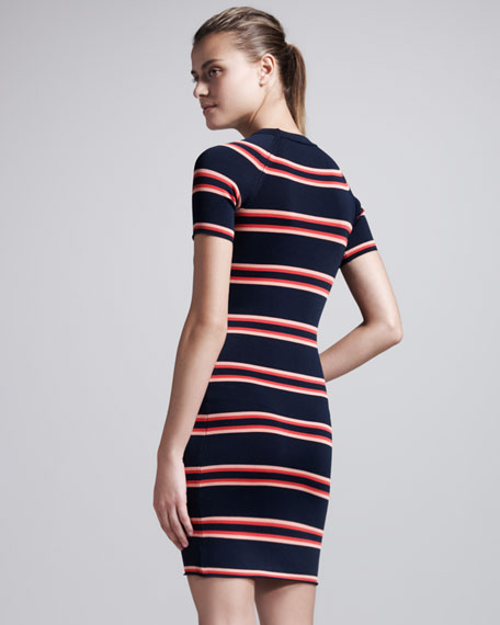 Thompson Striped Raglan Dress