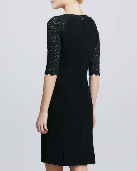 Collette Lace-Sleeve Dress