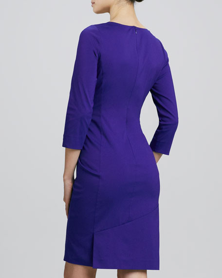 Laurel Twist-Pleated Dress