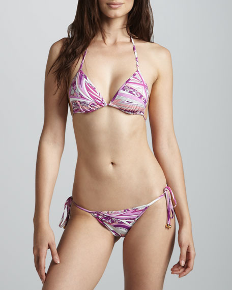Chicago Printed String Bikini